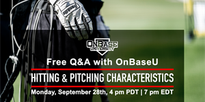 Full Recording: Hitting and Pitching Characteristics Q&A Webinar